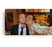 barney and marshall Canvas Print