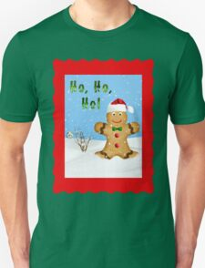 Happy Gingerbread Man in Snow Unisex T-Shirt