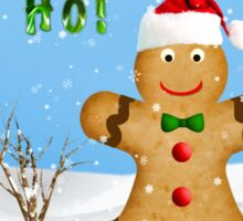 Happy Gingerbread Man in Snow Sticker