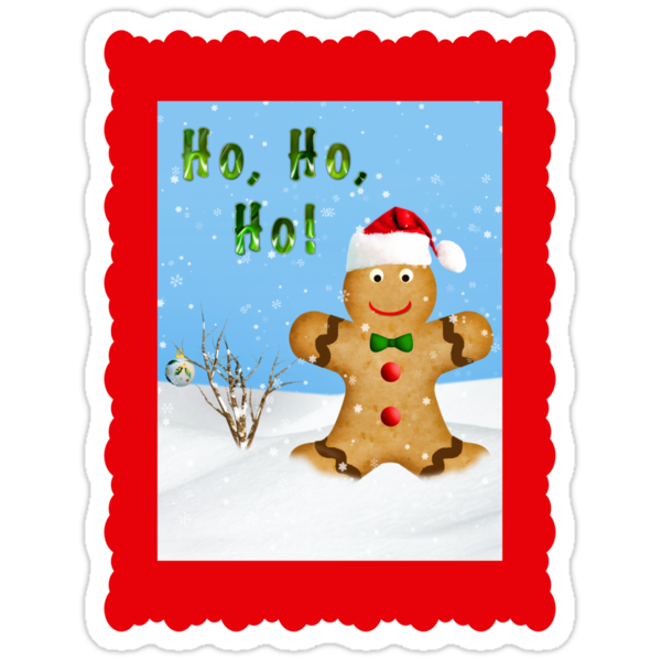 Happy Gingerbread Man in Snow by Delores Knowles