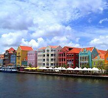 Pastel Colors of the Caribbean Coastline in Curacao by Amy McDaniel