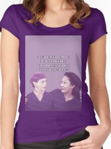 Cristina and Meredith goodbye Women's Fitted Scoop T-Shirt