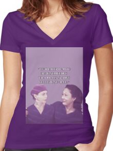 Cristina and Meredith goodbye Women's Fitted V-Neck T-Shirt