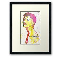 Aura  of Audrey Hepburn Framed Print
