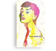 Aura  of Audrey Hepburn Canvas Print