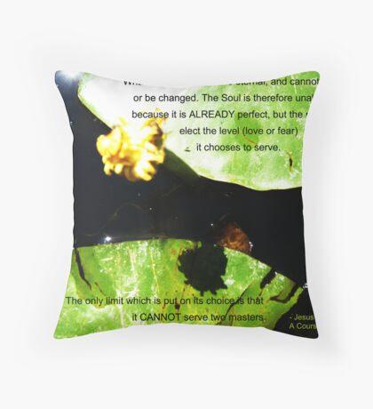 ACIM #4 The Soul Throw Pillow