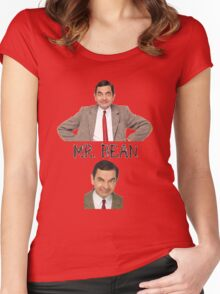 Mr. Bean - The Faces Women's Fitted Scoop T-Shirt