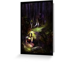 Dear in deep forest Greeting Card