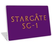 Wow Feminine Stargate typography Golden style Laptop Skin