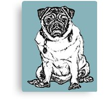 Pug o My heart Graphic ~ black and white Canvas Print