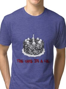 The Cake Is A Lie Tri-blend T-Shirt
