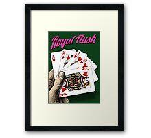 Royal Flush - Poker Framed Print
