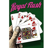 Royal Flush - Poker Photographic Print
