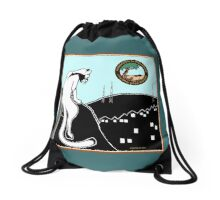 """Sharing Space"" Sage and Firethorn, bag by Stephanie Elm Drawstring Bag"