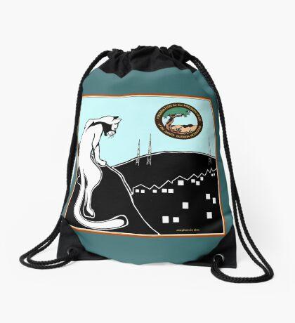 """Sharing Space"" Sage and Firethorn, bag by Stephanie Elm Drawstring Bag"