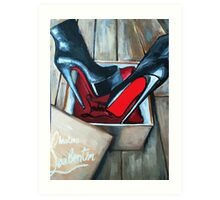 Red Bottom Boots Louboutin Box Art Print