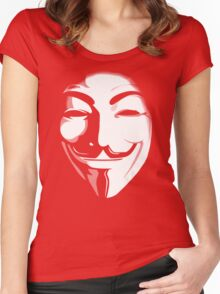anonymous t-shirt version 2 Women's Fitted Scoop T-Shirt