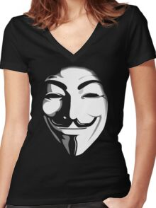 anonymous t-shirt version 2 Women's Fitted V-Neck T-Shirt