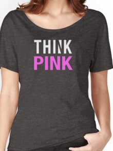 THINK PINK - Alternate (White) Women's Relaxed Fit T-Shirt