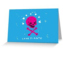 Funny Skull Pirate Flag Greeting Card