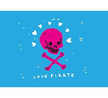 Funny Skull Pirate Flag Photographic Print