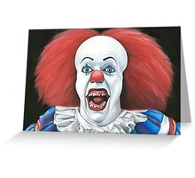 Pennywise the clown - Oil Painting Greeting Card