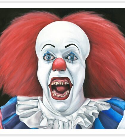 Pennywise the clown - Oil Painting Sticker