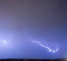 Lightning Bolts Coming In For A Landing by Bo Insogna