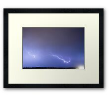 Lightning Bolts Coming In For A Landing Framed Print