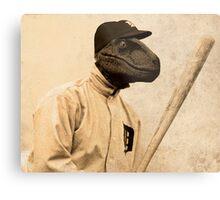 Baseball Velociraptor Metal Print
