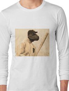 Baseball Velociraptor Long Sleeve T-Shirt