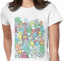 Robot Party Womens Fitted T-Shirt