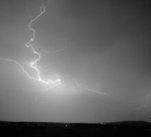 Lightning Goes Boom In The Middle of The Night BW by Bo Insogna