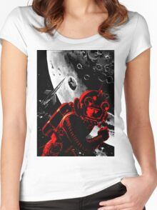 Reds in Space Women's Fitted Scoop T-Shirt