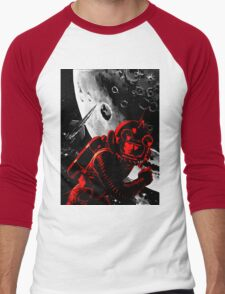Reds in Space Men's Baseball ¾ T-Shirt
