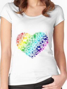 Paws of the Heart Women's Fitted Scoop T-Shirt