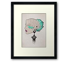 Girl With The Strange Earring Framed Print