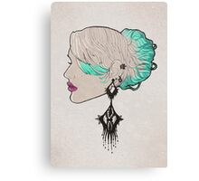 Girl With The Strange Earring Canvas Print