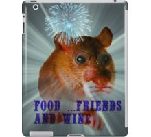 food ...friends and wine iPad Case/Skin