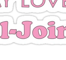 My Love is Ball-jointed - Pink Sticker