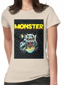 Simple Monster in the Night Womens Fitted T-Shirt