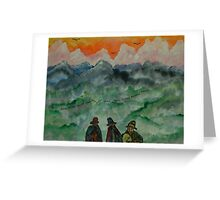 Andean Landscape Greeting Card