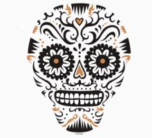 Sugar Skull SF -  on white One Piece - Short Sleeve