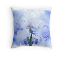 True Blue - Bearded Iris Throw Pillow
