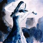 A woman playing the violin by cl-productions
