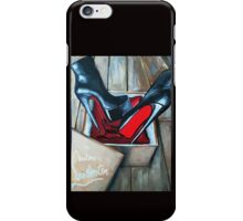 Red Bottom Boots Louboutin Box iPhone Case/Skin