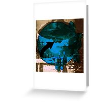 top secret UFO and air ship Greeting Card