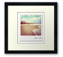 Bali beach 1983 Framed Print