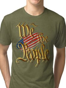 We The People-in gold Tri-blend T-Shirt