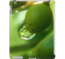 Water Drop on a Green ChockCherry iPad Case/Skin